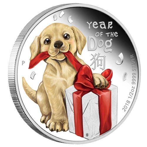 Baby Dog, Tuvalu, 2018, 1oz, 99 99%